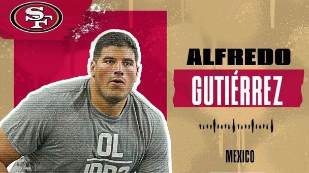 Un mexicano más se suma a la NFL, Alfredo Gutiérrez se une a los 49ers de San Francisco