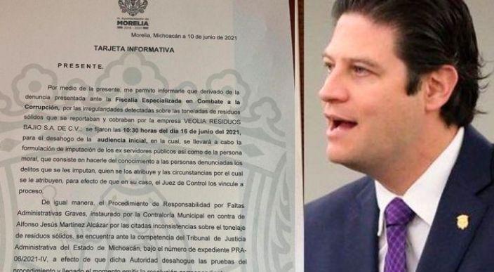 Contraloría de Morelia cita a Alfonso Martínez por caso de presunto fraude cometido por Veolia