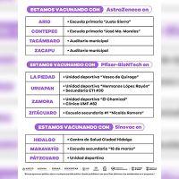 Continúa vacunación anti COVID-19 para personas de 40 a 49 años