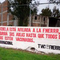 FNERRR continuará protestas en contra de clases presenciales