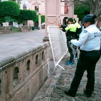 De nueva cuenta, cierran jardines y plazas públicas de Morelia
