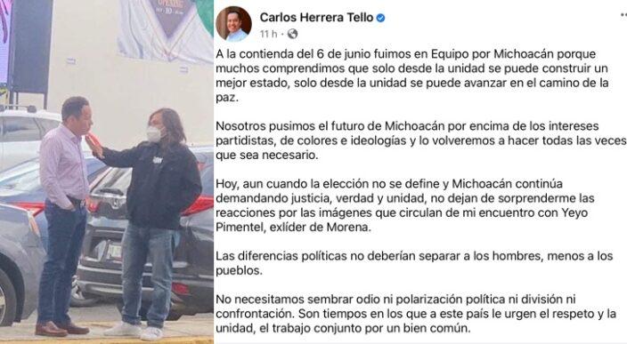 Carlos Herrera reconoce reunión con Morenista
