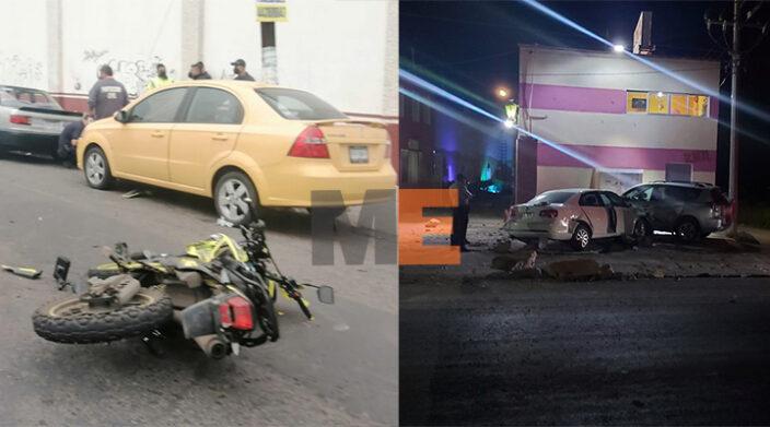 Se registran 2 accidentes viales en Morelia y en Tarímbaro
