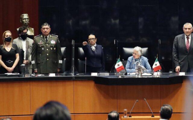 """No venimos a ganar una guerra, venimos a ganar la paz"": Rosa Icela Rodríguez, titular de la SSPC"