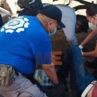 Hombre es baleado en Apatzingán, Protección civil municipal lo auxilia